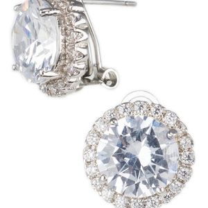 CZ BY KENNETH JAY LANE 15mm Halo CZ Stud Earrings